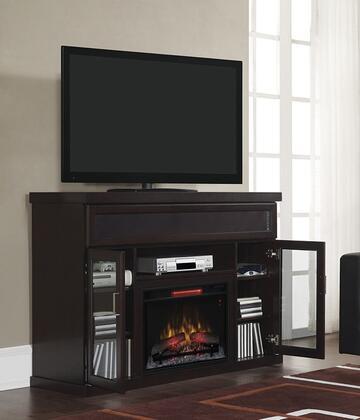 26MMS9726-E451 Tenor Electric Fireplace Entertainment Center with 300 Watt Soundbar  European Hinges  Adjustable Shelves and Wirelessly Stream Audio Via