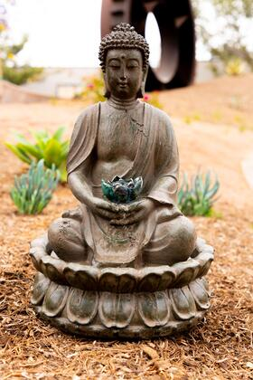 Alpine GEM178 Tabletop Buddha Water Feature w/ LED light