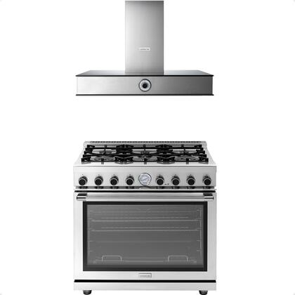 2-Piece Stainless Steel Kitchen Package with RN361GPSS 36 inch  Freestanding Natural Gas Range