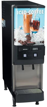 37900.0002 JDF-2S 2 Flavor Cold Beverage System With Push Button  Portion Control  Quick Dispense  8lbs. Ice Bank  in