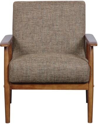 DS-D030003-487 Accent Chair with Wood Frame  Hardwood Solids Construction and Textured Fabric Cover in Calypso