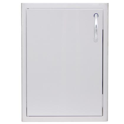 BLZ-single-2417-R-LH 21 inch  Single Access Door with Left Hinge Side  Rounded Bevel Design and Rounded Handles in Stainless