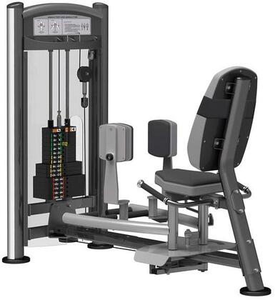 E-5078 Titanium Series 9308 Abductor Adductor Machine with 200 lbs. Incremental Weight Stack  Military Grade Cables and High-Tech Oval Tubing in Black and