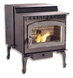 "SP23PB 23"" Wide Sonora 42 000 BTU Pellet Stove in Black with 55 lbs Hopper Capacity Digital Controls and Door in:"