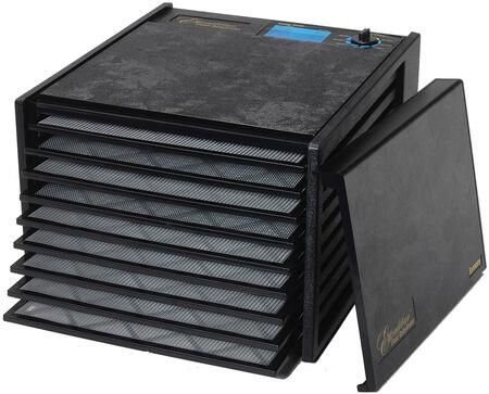 2900ECB Economy Series Dehydrator in Black with 9 Trays  15 Sq. Ft. of Drying Area  Adjustable Thermostat  and 5 Year Limited