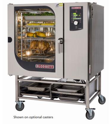 BCM102E Single Electric Boiler based Combination-Oven/Steamer with Dial and Digital controls  Reversible 9 speed fan  Up to 50 recipe programs with 10 cooking