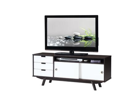 RTA-3672-WN Modern Wood Veneer 55    TV stand with Sliding Doors.