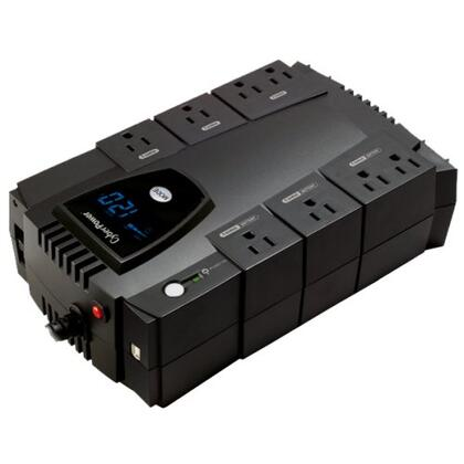 CP600LCD UPS - 600VA/340W LCD Display 8-Outlet RJ11/ Compact Design