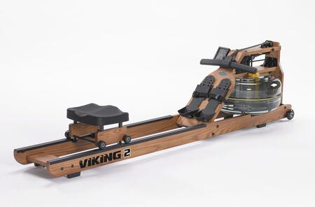 Horizontal Series VIK2AR Viking 2 Adjustable Resistance Indoor Rower with American Ash Frame  Multilevel Monitor with USB Port  Durable Belt Drive and Built-In