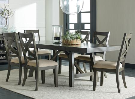 Omaha Collection 16681-6SC 7-Piece Dining Room Set with Rectangular Dining Table and 6 Side Chairs in
