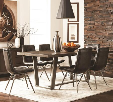 Hutchinson Collection 1078517set 7 Pc Dining Room Set With Dining Table + 6 Side Chairs In Aged Concrete