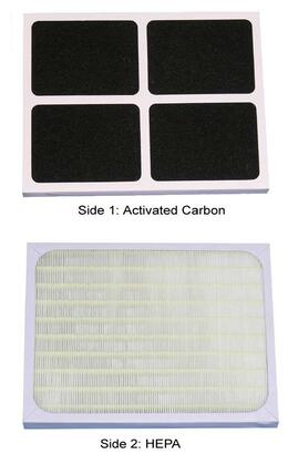 3000F Sunpentown Living Room Appliance Replacement HEPA/ Carbon Filter for AC-30