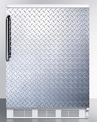 FF6BIDPL 24 inch  Built-In Capable Compact All-Refrigerator with 5.5 cu. ft. Capacity  Crisper  Interior Light  Adjustable Shelves  and Hidden Evaporator: Diamond