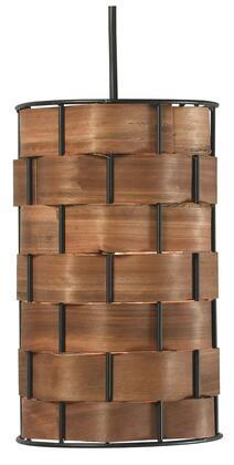 92045DWW Shaker 1 Light Mini Pendant in Dark Woven Wood