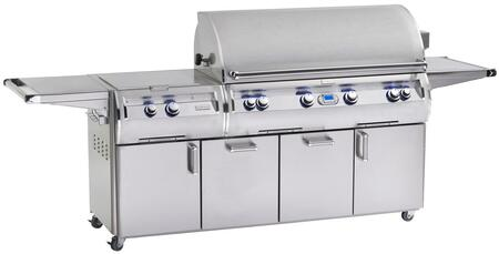 E1060S-4L1N-51 Echelon Diamond Series Natural Gas Grill  1056 sq. in. Cooking Area  With Power Burner And One Infrared Burner On Cart: Stainless