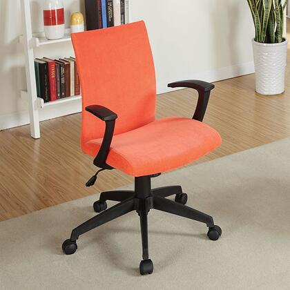 Crofter CM-FC635OR Office Chair with Swivel Bar Stool with Armrests  Fabric Seat  Height Adjustable in