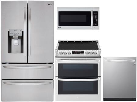 4 Piece Kitchen Appliance Package with LMXS28626S 36