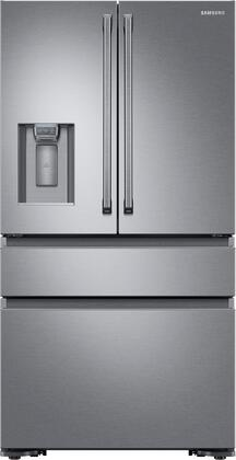Samsung RF23M8090SR 36 Inch Freestanding Counter Depth 4 Door French Door Refrigerator with 22.7 cu. ft. Total Capacity