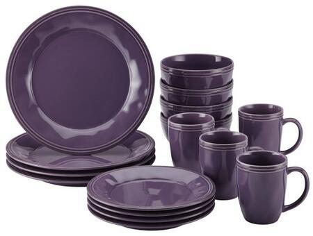 51502 16-Piece Stoneware Dinnerware Set  Lavender