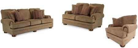 Cooper Collection 732131721SLC 3-Piece Living Room Set with Sofa  Loveseat and Living Room Chair in Applause