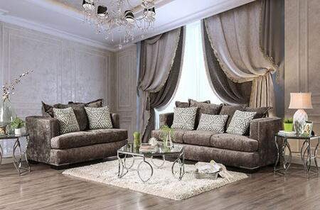 Maisie Collection SM6401-SL 2-Piece Living Room Set with Stationary Sofa and Loveseat in
