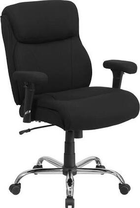 HERCULES Series 400 lb. Capacity Big & Tall Black Fabric Task Chair with Height Adjustable Arms