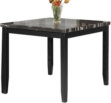 Blythe Collection 71070 42 inch  Counter Height Table with Faux Marble Top  Square Shape  Medium-Density Fiberboard