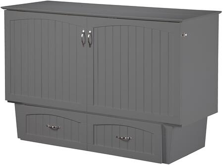 Nantucket AC5940009 Murphy Queen Sized Bed Chest with Satin Finished Hardware  Extra Large Storage Drawers and Mattress Pull Handles in Atlantic