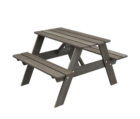 Smelis SMELIS21 Kids Picnic Table with Stretchers and Solid Knotty Pine Construction in Taupe