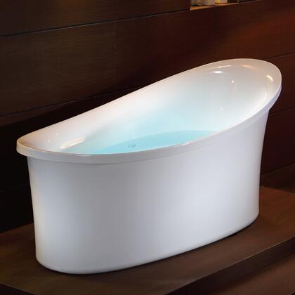 AM1800 6 Foot Free Standing Air Bubble Bathtub with Acrylic  Air Blower Motor and Multi Color LED Lights in