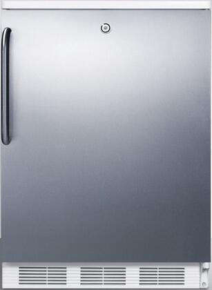 FF7LBISSTB 24 inch  Commercially Approved Compact Refrigerator with 5.5 cu. ft. Capacity  Auto Defrost  Door Lock and Interior Light  in Stainless