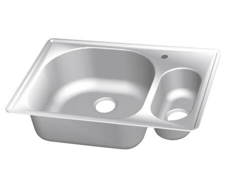 CMT3322-95D Stainless Steel Double Bowl Topmount Sinks  5-1/2 inch  H Small Bowl on