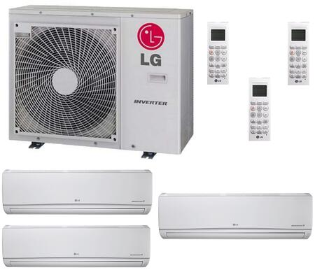 LMU30CHVKIT2 Triple Zone Mini Split Air Conditioner System with 30000 BTU Cooling Capacity  3 Indoor Units  and Outdoor 700834