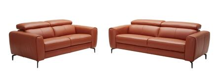 Cooper Collection 18742-SL 2-Piece Living Room Set with Sofa and Loveseat in Pumpkin