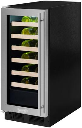 Marvel ML15WSG2LS 15 Inch Built-In Single Zone Wine Cooler with 24 Bottle Capacity, in Stainless Steel