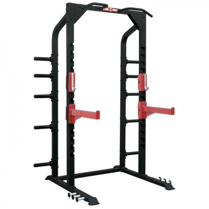 XM-400-PRACK-H Commercial Half Rack with Easy Spring Pin Adjustment  3 Sets of Heavy Pins  and Chin Up Bars  in