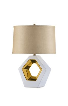 1310735 Zone Table Lamp  Reclining Gold in Bone White  Gold  and Brass
