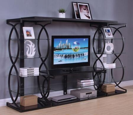 Milo Collection 91125ENT 4-Piece Entertainment Center with TV Stand  Left Pier  Right Pier and Bridge in Sandy