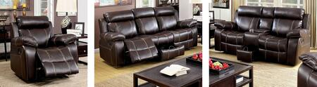 Chancellor Collection CM6788-SLR 3-Piece Living Room Set with Motion Sofa  Motion Loveseat and Recliner in