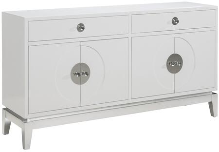 Sutton P020006 Modern Lacquer Console with Two Drawers with Side Guides  Concealed Hinges and Silver Leaf Base in