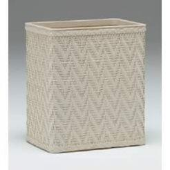 S423CR Elegante Collection Decorator Color Wicker Wastebasket in