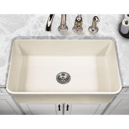 PTS-4300 BQ Platus Series 33-Inch Apron-Front Fireclay Single Bowl Kitchen Sink