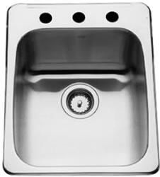 QSL2217/8N/3 17 inch  Single Bowl Stainless Steel Kitchen Sink  3 Faucet