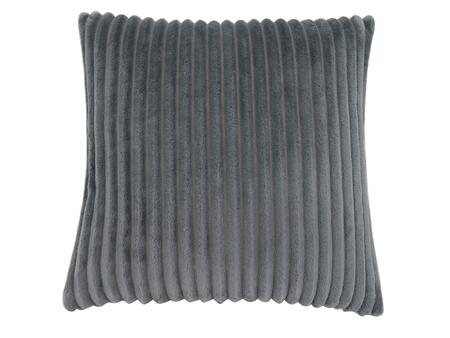 I 9352 18 inch  x 18 inch  Pillow with Textured Rib Cover in Grey - 1