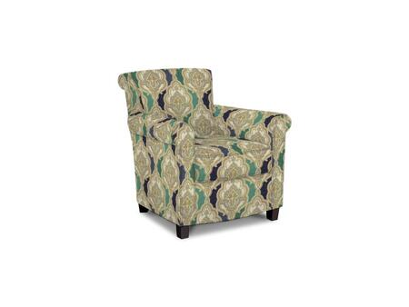 Roosevelt Collection 1148-02/BE110-5 31 inch  Accent Chair with Fabric Upholstery  Rolled Tight Back  Welted Sock Arms and Contemporary Style in Woven Tapestry