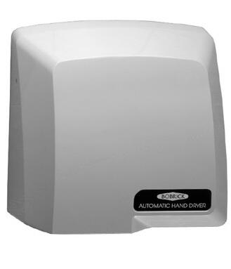 B-710 CompacDryer  Surface-Mounted Hand Dryer with Electronic Control  Fan  Automatic Thermal-Overload Switch and Heating Element in Grey Plastic High Gloss