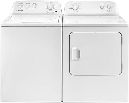 White Front Load Laundry Pair with WTW4616FW 28