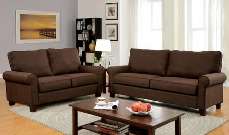 Hensel Collection CM6760BR-SL 2-Piece Living Room Set with Stationary Sofa and Loveseat in