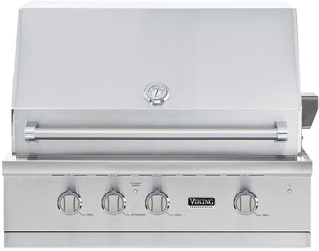 "VGBQ53624LSS 36"" 5 Series Ultra-Premium Built-In Liquid Propane Grill with 3 Stainless Steel Burners  Rotisserie  Thermometer  Smoker Box  and Drip Tray  in"