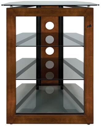AT306 27 inch  Audio Racks Made of Black Scratch Resistant  Powder-Coated Steel and Tinted Tempered Safety Glass in Rich